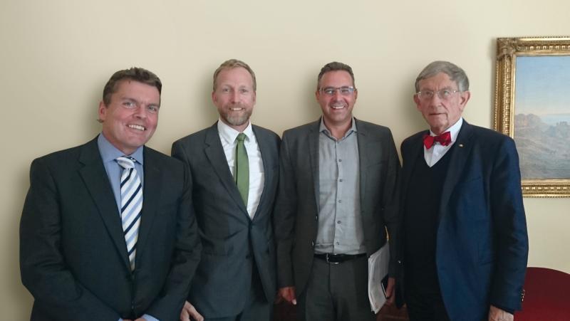 Holger Sdunnus, Dr. Ernst Pfeiffer, MdB Dr. Joachim Pfeiffer, MdB Prof. Heinz Riesenhuber